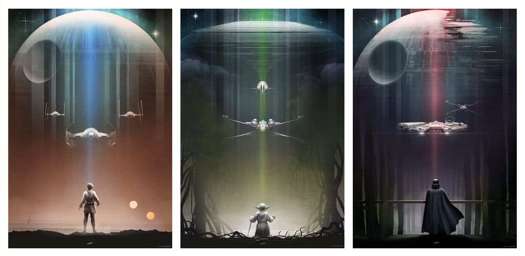 star_wars__luke__yoda__vader_by_andyfairhurst-d8qiki0