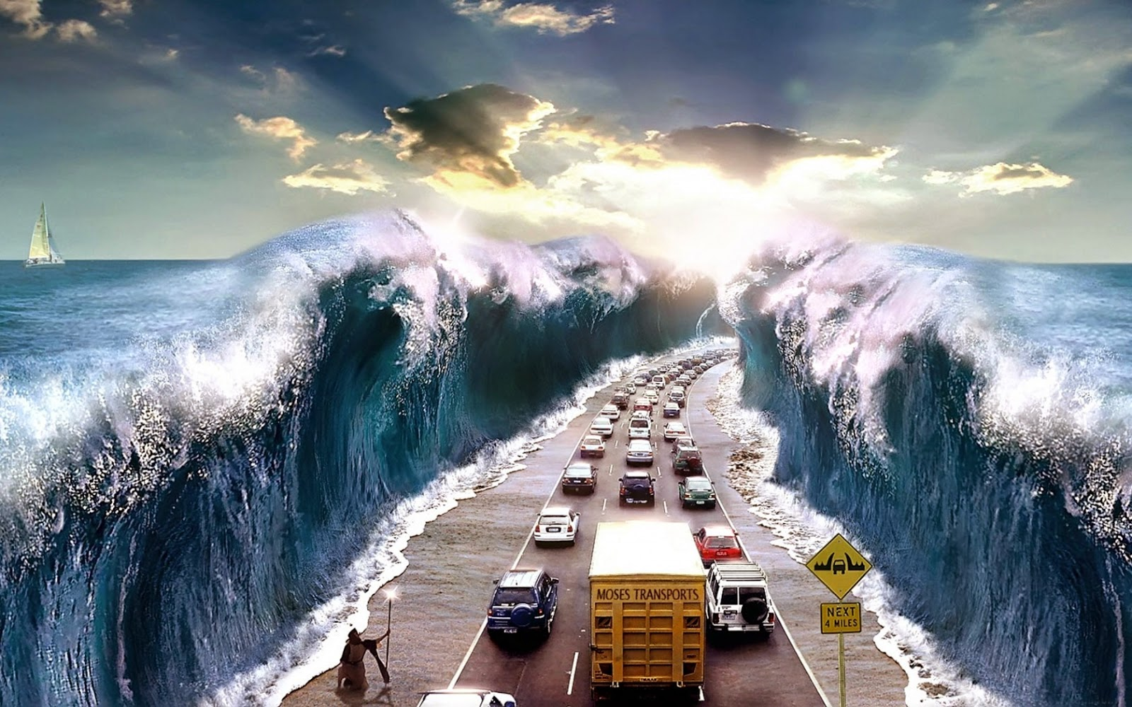 tsunami Fantastic Photoshop Manipulation Ideas