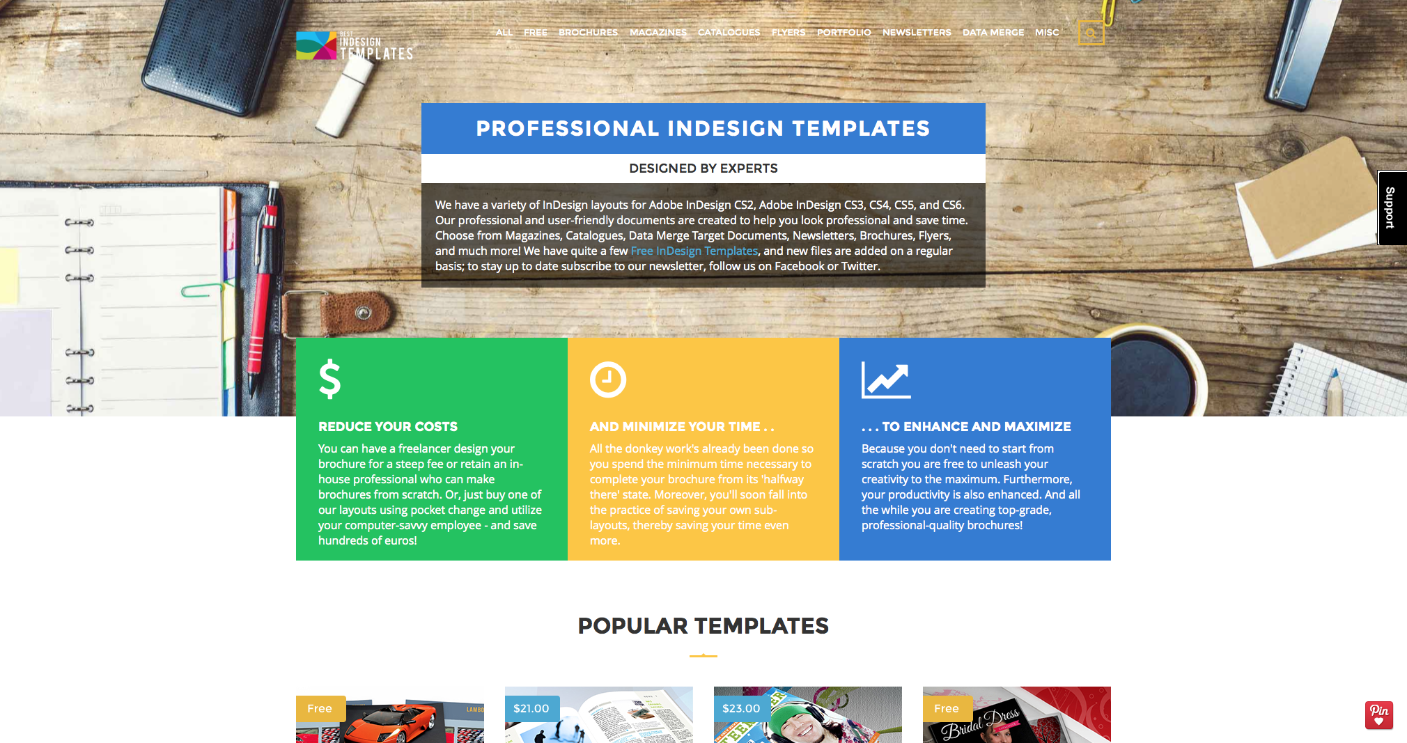 best indesign templates